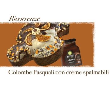 Colombe pasquali accompagnate a crema spalmabile
